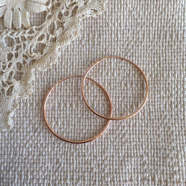 'classic' hoops | 24k rose gold-plated | 30mm