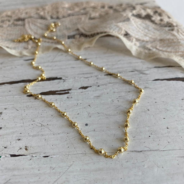 rosario | silver gold plated necklace