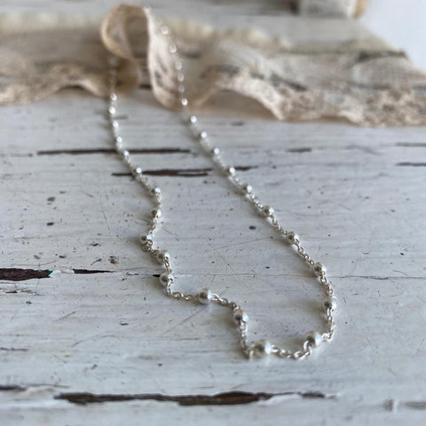 rosario | silver necklace