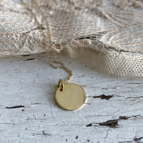 Medalla | necklace (silver 925, 24k gold-plated)