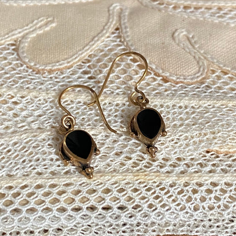 onyx | 'isa' earrings | bronze