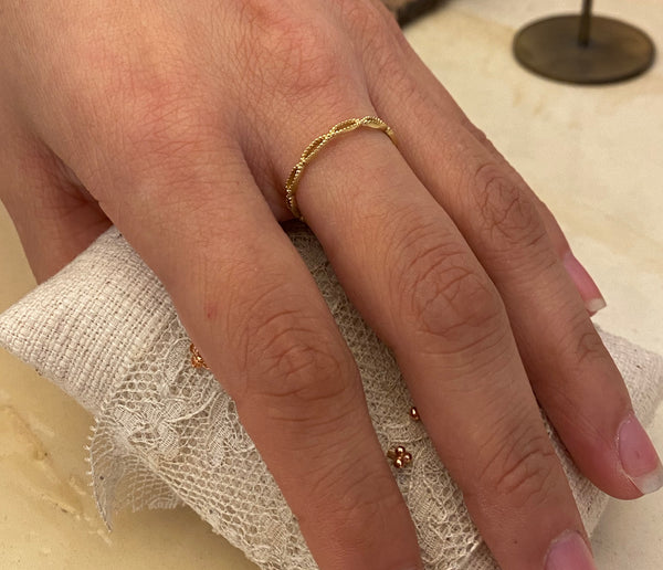 shallot ring | 925 silver 24 k gold-plated