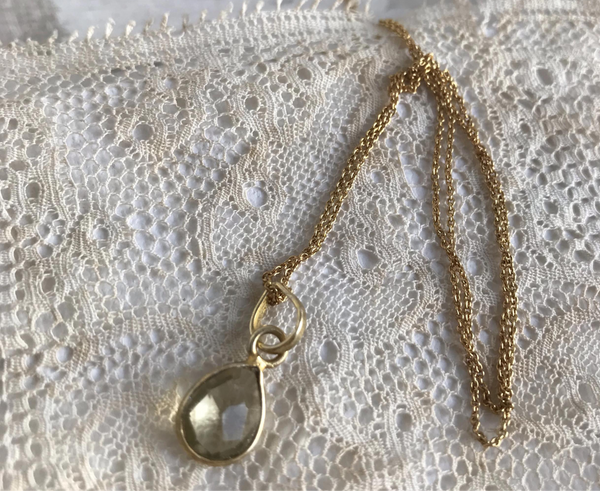 citrine | stone pendant necklace