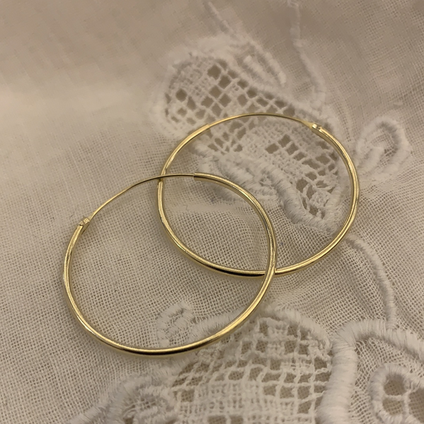 'classic' hoops | 24k gold-plated | 25mm