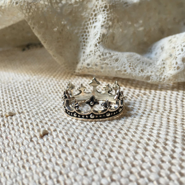 'queen II crown' ring | 925 silver