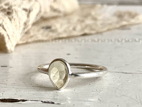 citrine | 'laia' ring  | 925 silver