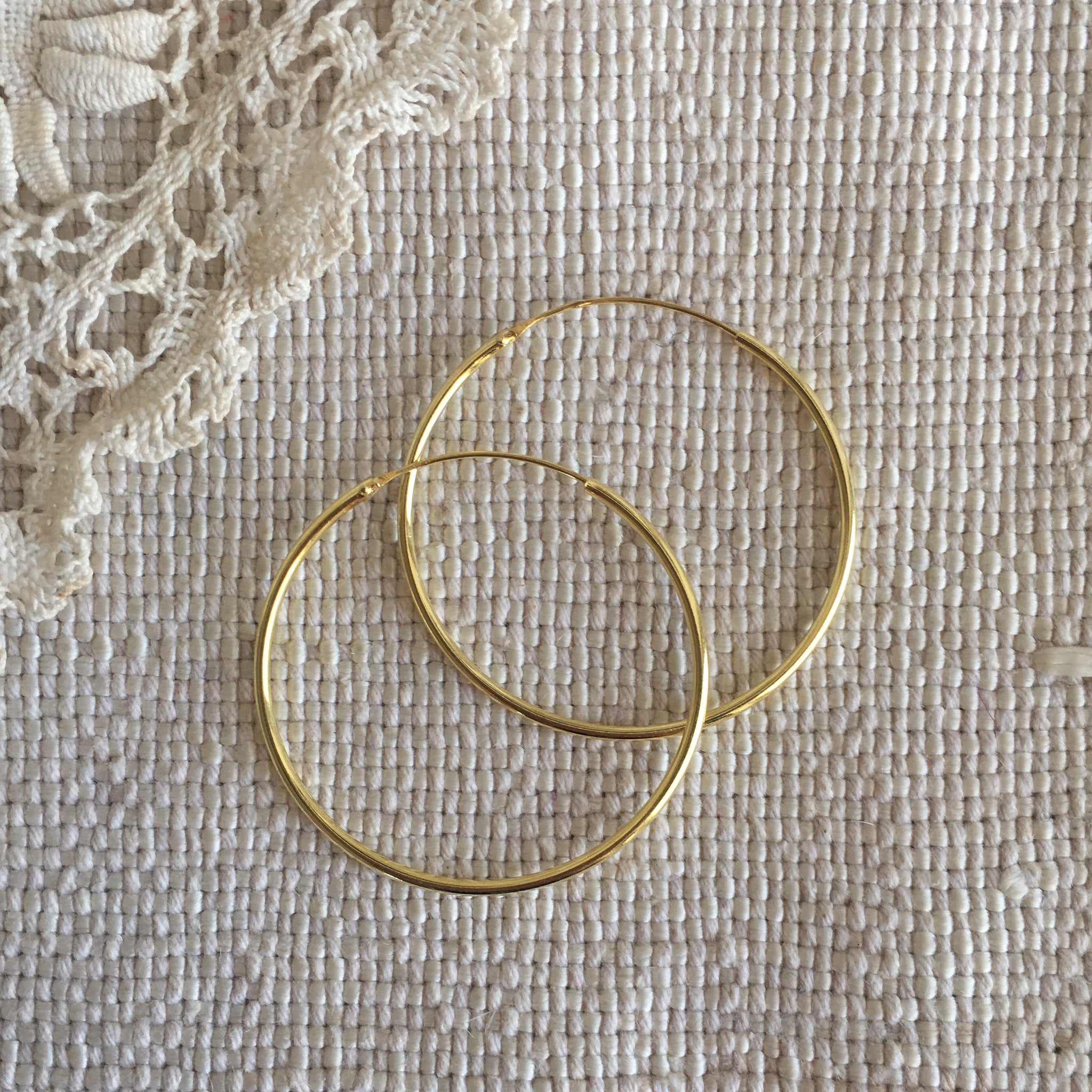'classic' hoops | 24k gold-plated | 35mm