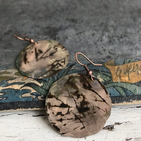 *japan wood* cooper earrings