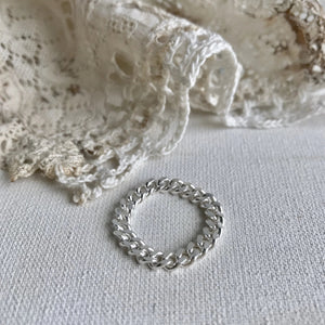 Curb chain ring - silver 925