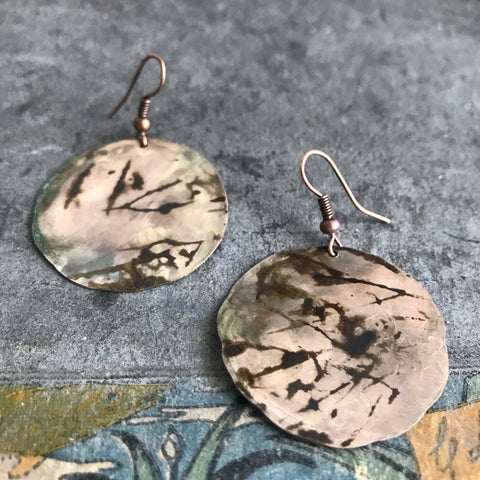 Japan / cooper unikat earrings
