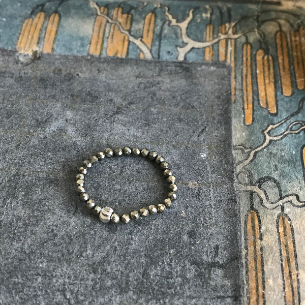pyrite adjustable ring