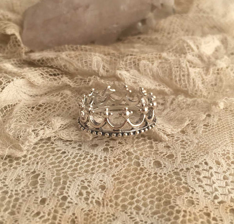 king crown silver ring