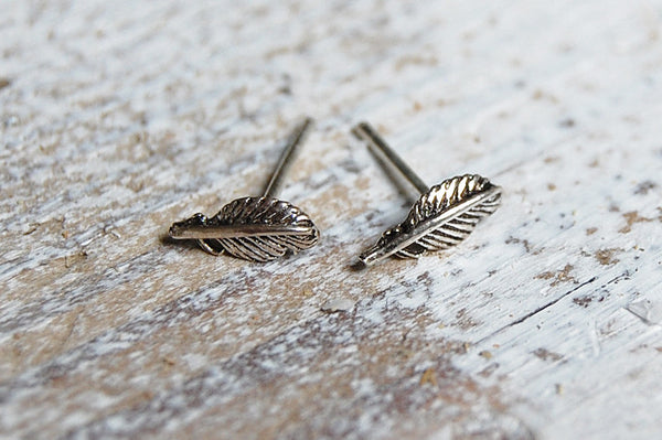 feather earstuds | 925 silver