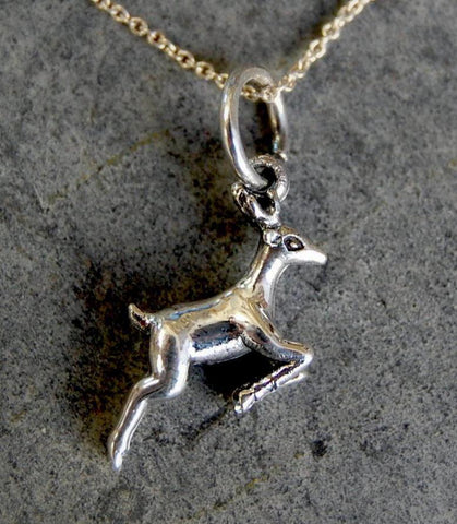 little deer pendant necklace (925 silver)