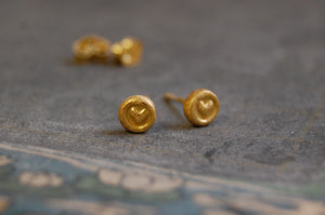 little hearts earstuds (925 silver)