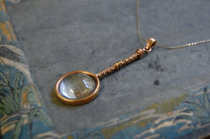 magnifying glass pendant