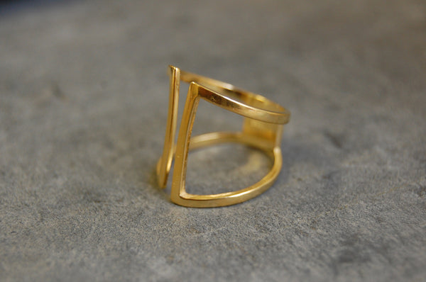 milan ring gold-plated 925 silver
