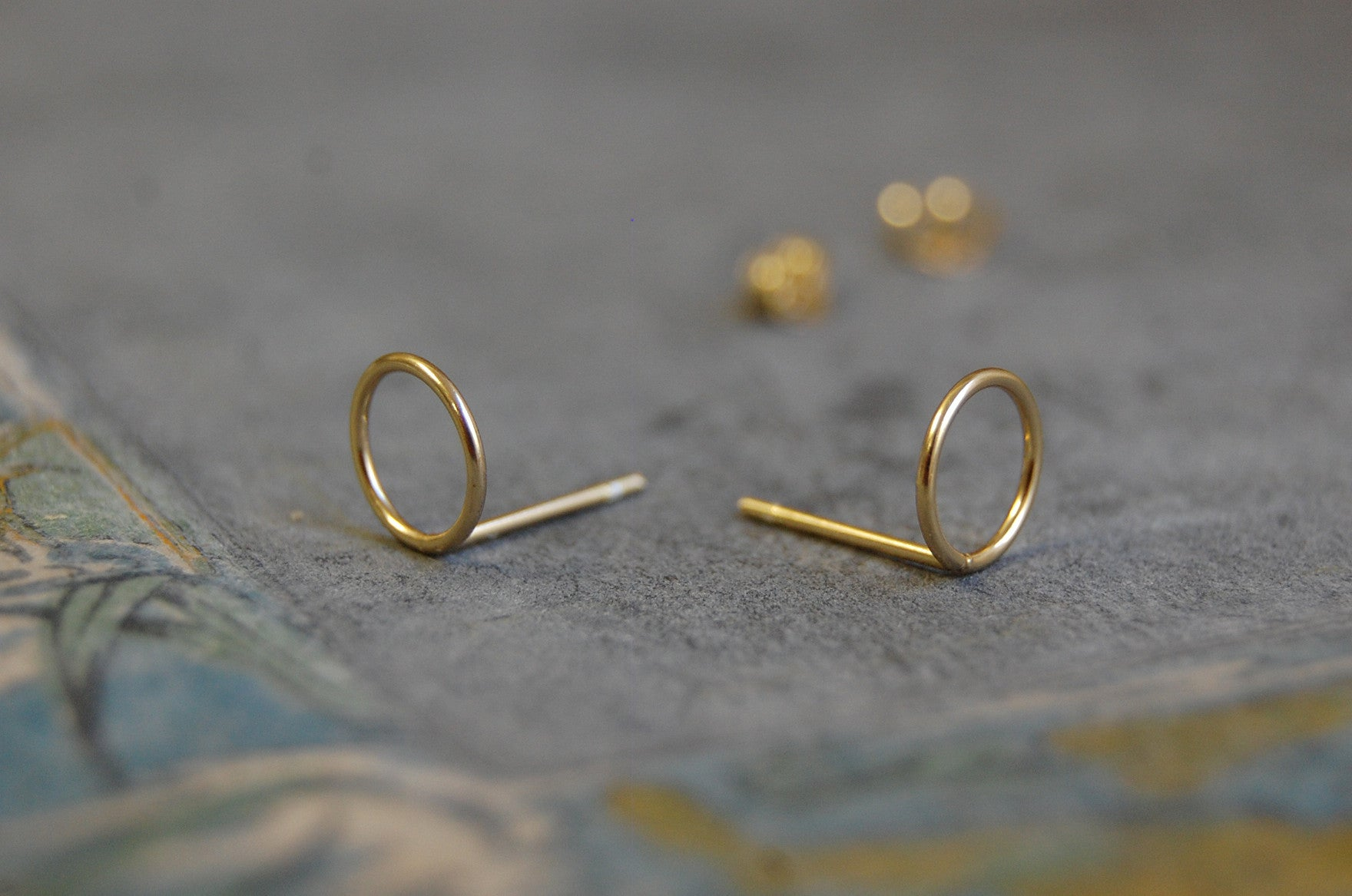 hoop earstuds (925 silver gold-plated)