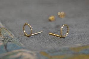 'hoop' earstuds | 24k gold-plated | different sizes