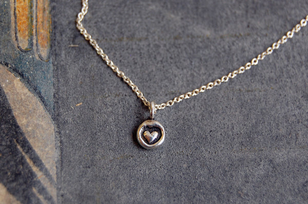 'mini heart' necklace (925 silver)