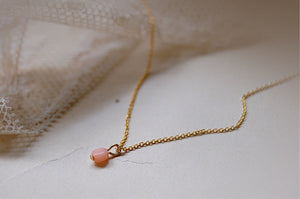 mini coral necklace