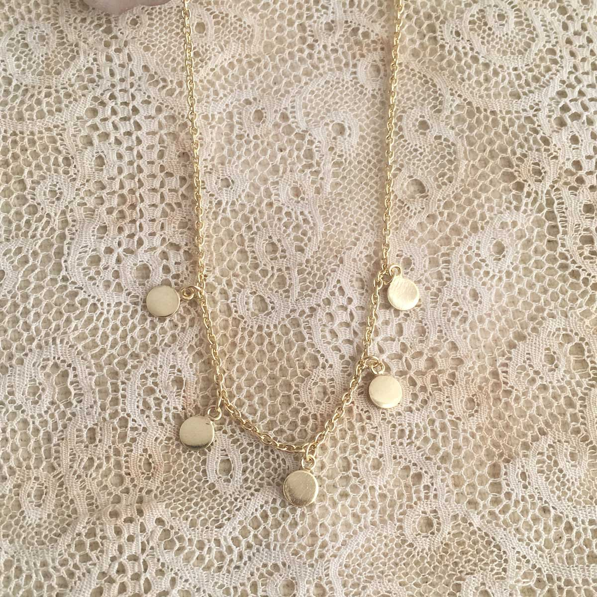 'five coin' necklace | 24k gold-plated