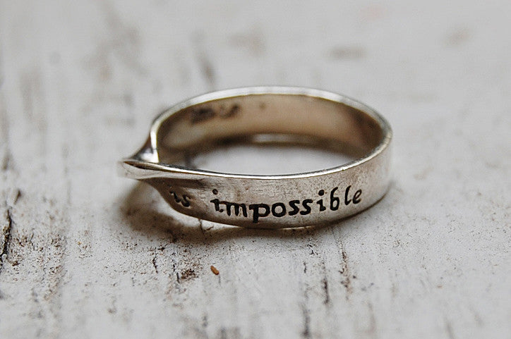 nothing is impossible ring