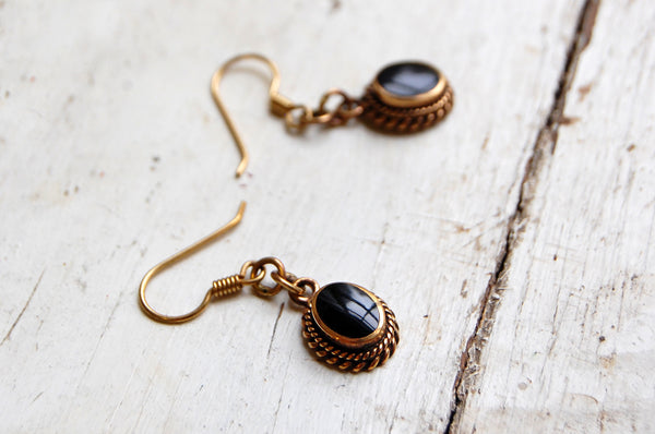 onyx | 'ora' earrings | bronze