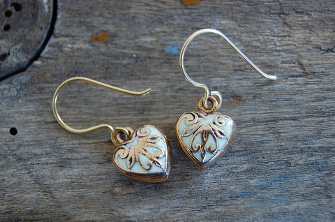 ornate hearts earrings