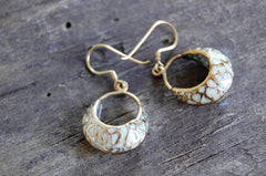 ornate enameled earrings