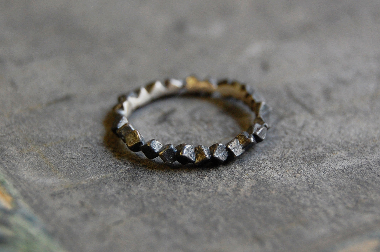 'Rocas' silver 925 Ring oxidised