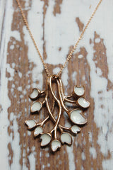entwined leaves necklace (painted)