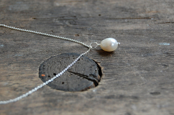 'drop pearl' necklace | 925 silver