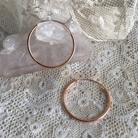 'classic' hoops | 24k rose gold | 25mm