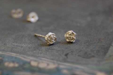 rose earstuds (925 silver)