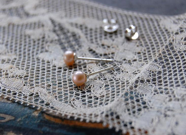 rose sweet water pearl ear studs