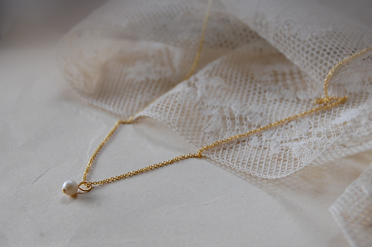 'small pearl' necklace | 24k gold-plated