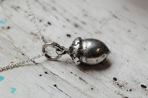 'acorn' necklace | 925 silver