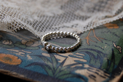 925 silver ball ring