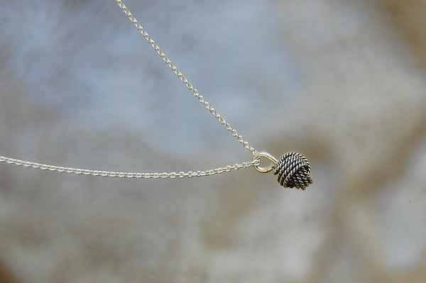 knot small necklace | 925 silver