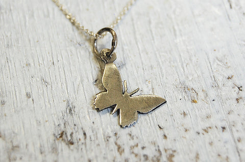 butterfly necklace (925 silver)