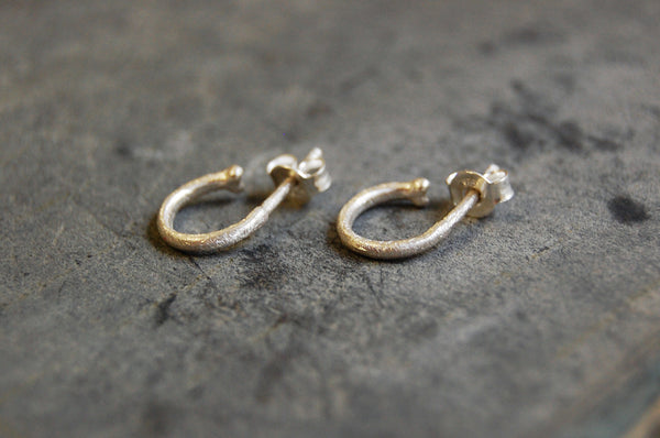 c-hoop earrings (925 silver)