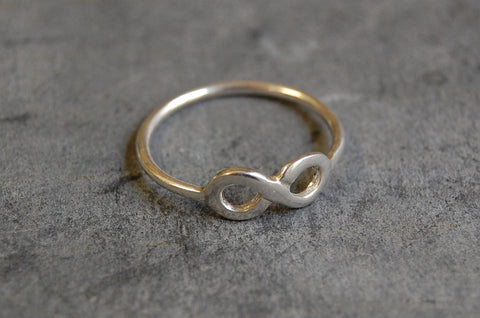 'infinity' ring 925 silver