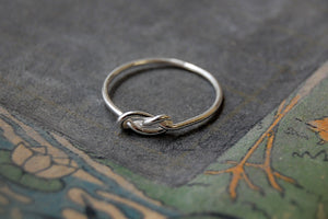 'infinity knot' ring | 925 silver