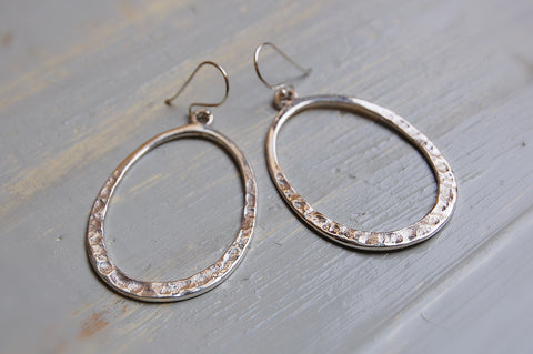 oval earrings (925 silver)