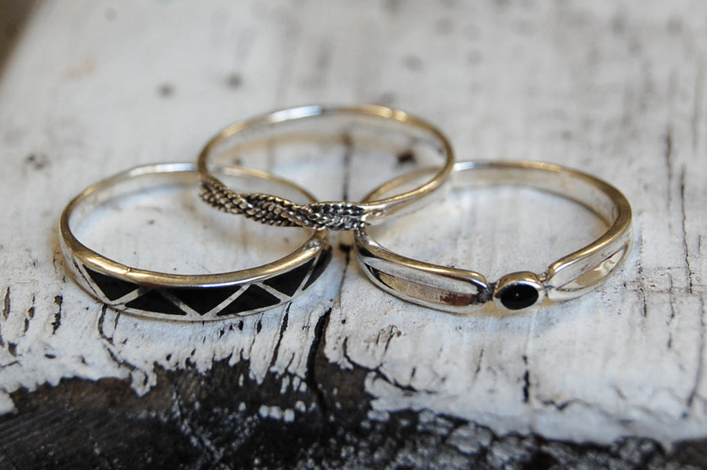 rings set (925 silver )