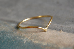 v ring | (925 silver gold-plated)