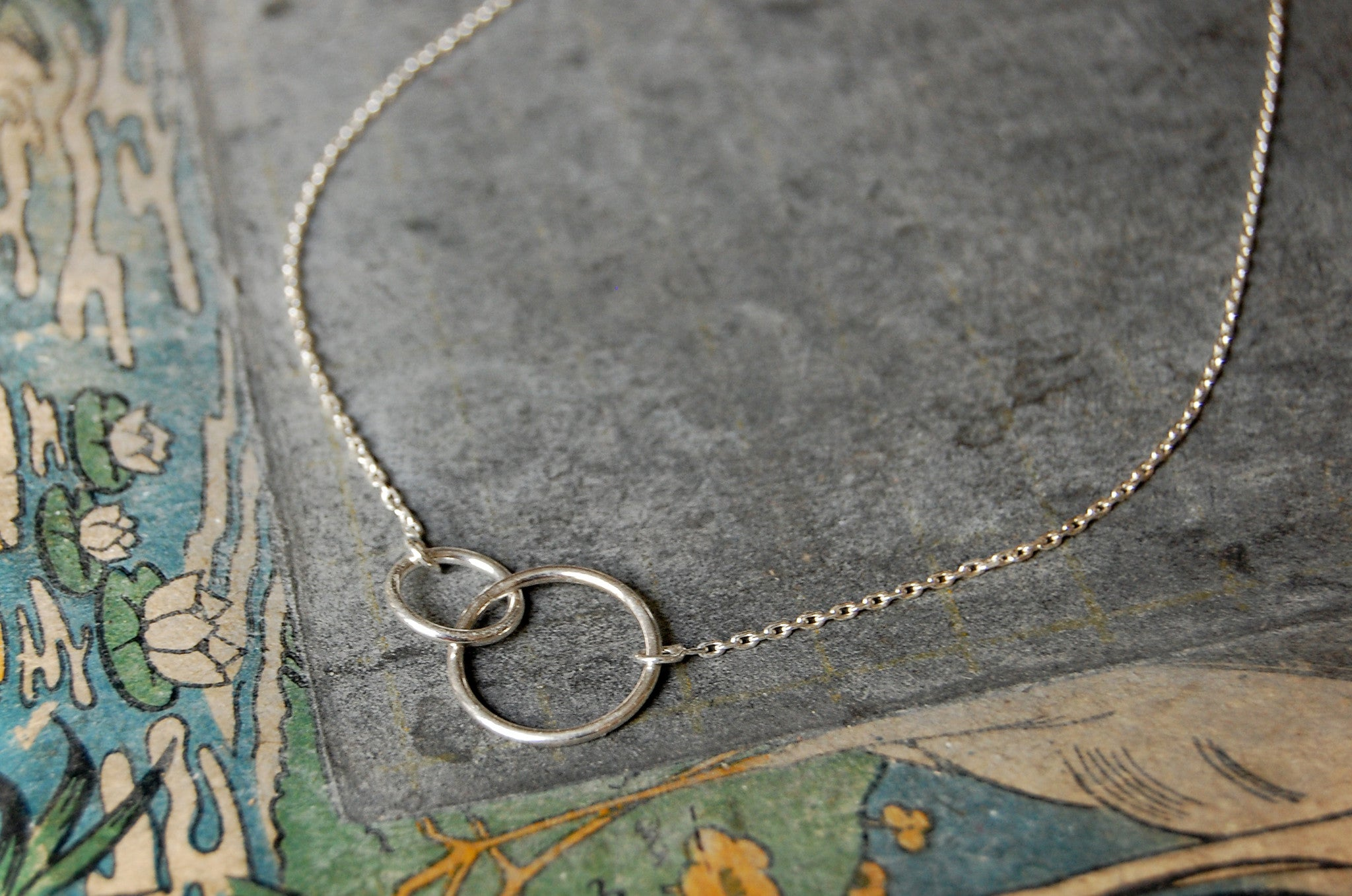 two rings necklace (925 silver)