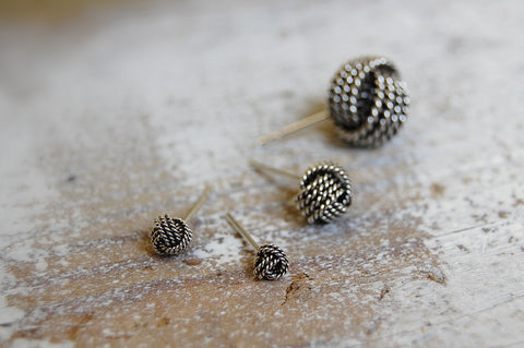 knot earstuds | 925 silver