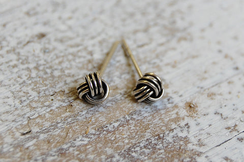 wire knot earstuds | 925 silver